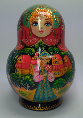 140mm The Scarlet Flower hand painted Matryoshka round doll 10pcs