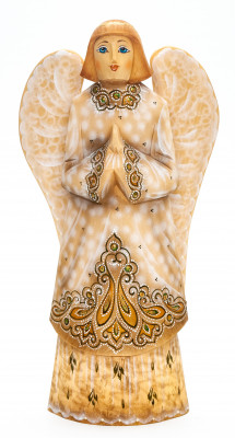 220 mm Angel with Wings hand painted wooden figurine (by Polar Bear Studio)