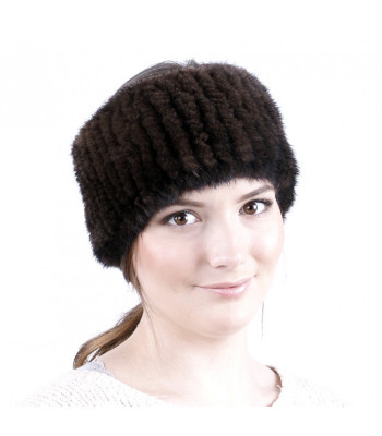 Mahagony Knitted Mink Fur Headband