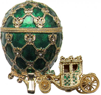 95 mm Imperial Coach and Green Imperial Coronation Easter Egg