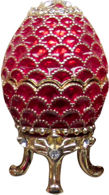 42 mm Red Pine Cone Easter Egg