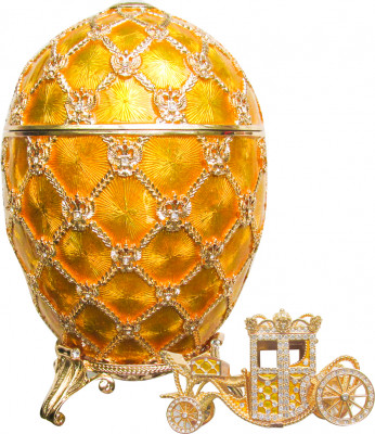 200 mm Imperial Coach and Gold Imperial Coronation Music Easter Egg