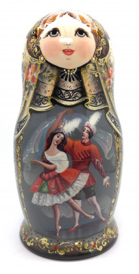 200 mm Russian Ballet Sheherazade hand painted Matryoshka doll 5 pcs (by A Studio)