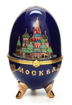 Easter Egg box with Moscow Picture blue