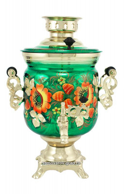 Poppy Hand Painted Electric Samovar Kettle