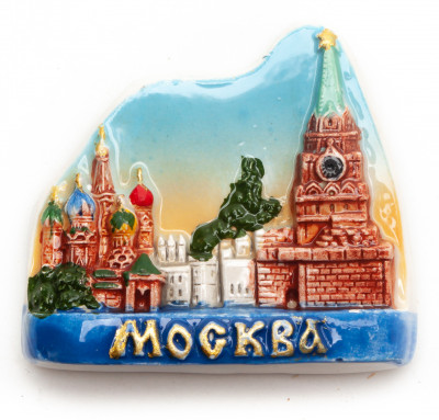 Moscow Attractions Ceramic Magnet
