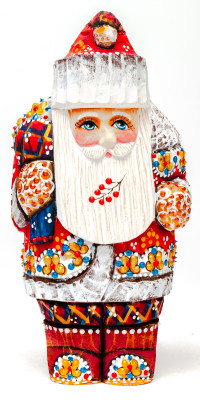 170 mm Santa Claus hand carved and painted wooden statue (by Natalia Workshop)