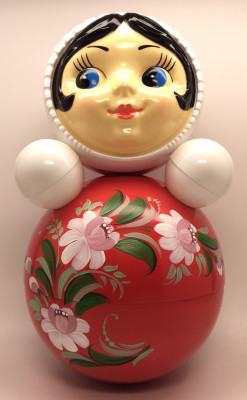 Russian Doll with handpainted ornaments Roly-poly Toy
