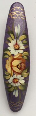 Lada Hair Clip Hand Painted Zhostovo Art