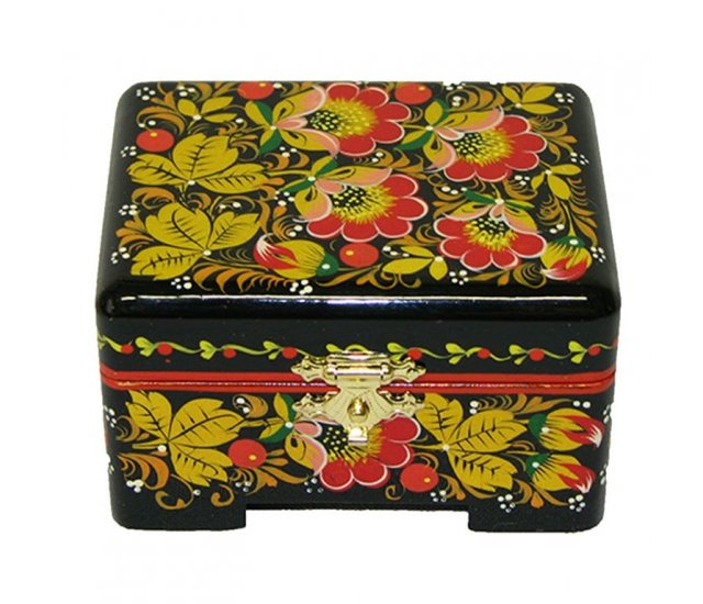 Khokhloma Painting Jewellery Wooden Box 80x60mm