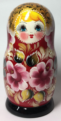 150 mm Maidan Patterns hand painted Wooden Matryoshka Doll 5 pcs (by Mihail Matryoshka Studio)