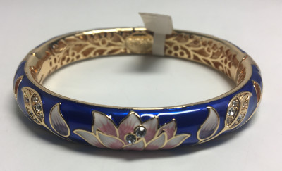 Lotus Blue Bracelet with Enamel (by AKM Gifts)