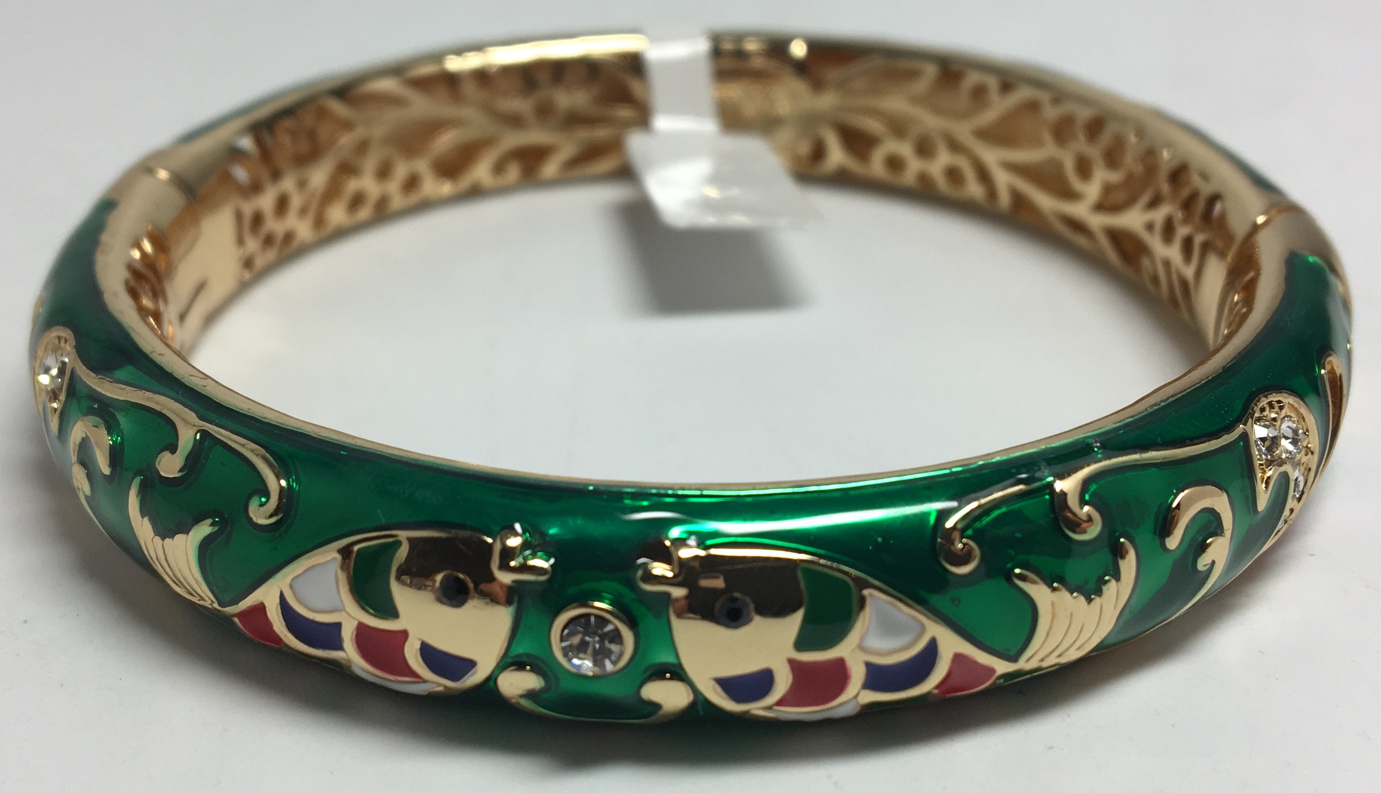 Fish Green Bracelet with Enamel (by AKM Gifts)