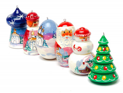 Russian Winter Christmas Tree Ornaments