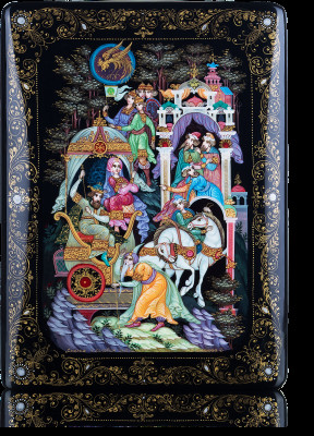 The Tale of Tsar Saltan Hand Painted Jewellery Box