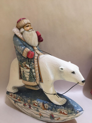 santa on a polar bear