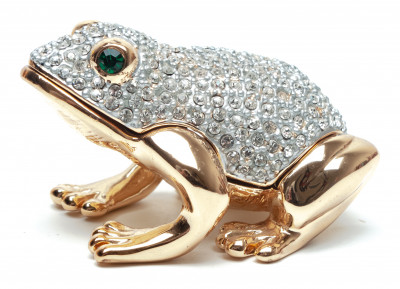 35 mm Frog with the Rhinestones Jewellery Box