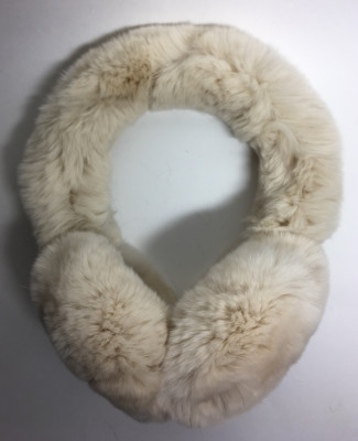 Vanilla Rabbit Hair Earmuff (by Skazka Furs)