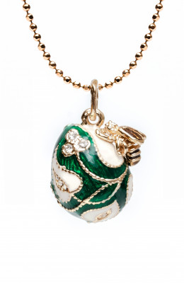 Bee Green Egg Pendant