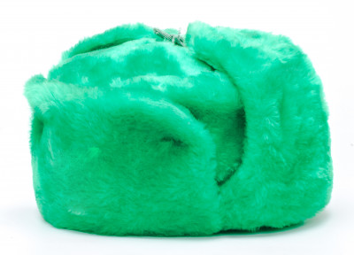 Russia Army Fur Ushanka Winter Hat (green, any size)