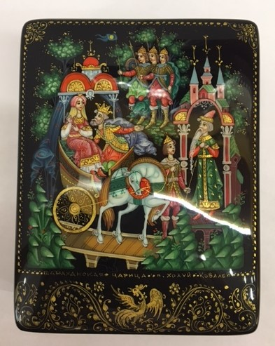 Fairytale about Tsar Saltan Lacquered Box from Kholui