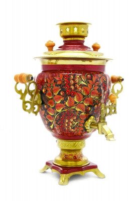 Rooster and Rowan Hand Painted Electric Samovar Kettle