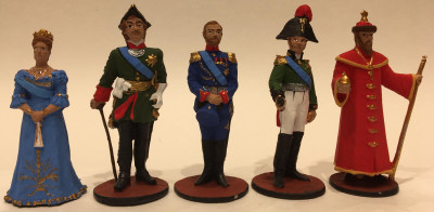 Tin Toy Soldiers Hand Painted Set of 5 pcs