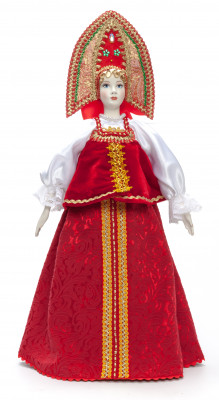 The Princess in a Red Dress hand-sewn Porcelain Doll - 21 Inches