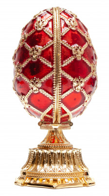 110 mm Red Easter Egg with the Basket