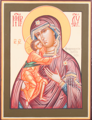 Fedorovskaya Godmother handpainted wooden Icon (by Galina Studio)