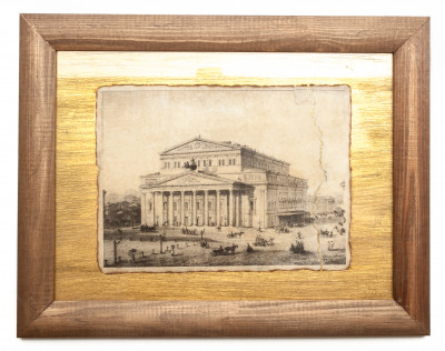 280x220 mm The Bolshoy Theatre printed on ceramic Canvas lithography (by Skazka)