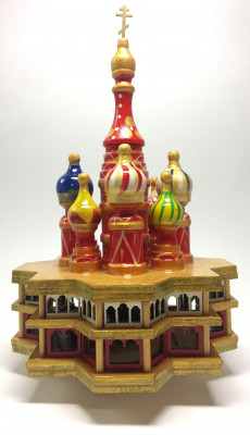 210 mm Saint Basil's Cathedral hand painted Wooden Music Box (by Nightingale Crafts)