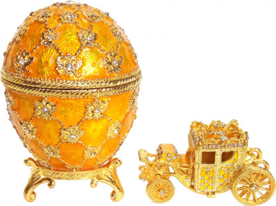 90 mm Imperial Coach and Gold Imperial Coronation Easter Egg