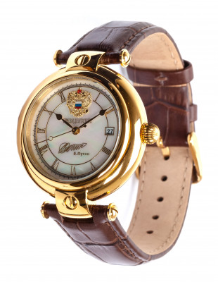 PRESIDENT Automatic watch by POLJOT, 10µm gold coated, ø40mm
