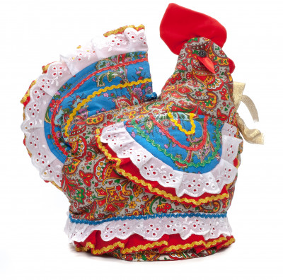 350mm Cockerel Cotton Kettle Warmer Doll (by Le Russe)