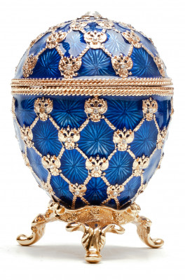 80 mm Clock and Dark Blue Imperial Coronation Music Easter Egg