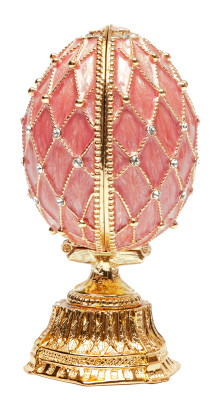 90 mm Pink Lattice Easter Egg with the Basket