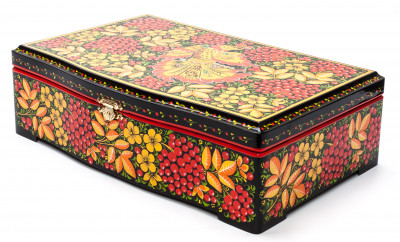 Khokhloma Painting Tea Wooden Box 295x165 mm
