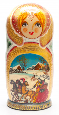 270 mm The Firebird handpainted Wooden Matryoshka Doll 10 pcs (by Valery Crafts)