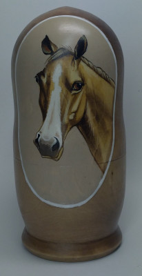 160mm Horse hand painted Matryoshka 5pcs (by Alexander Famous Paintings)