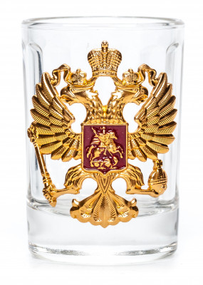 Coat of arms of Russia Shot Glass