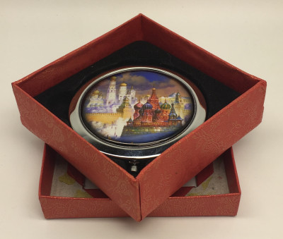 Compact Mirror with Winter Moscow