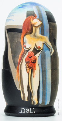 200 mm The Bleeding Roses by Dali hand painted wooden Matryoshka 5 pcs (by Alexander Studio)