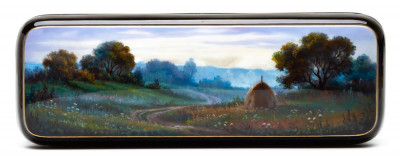 175x60mm Meadow Hand Painted Jewellery Box (by Alexander G Studio)