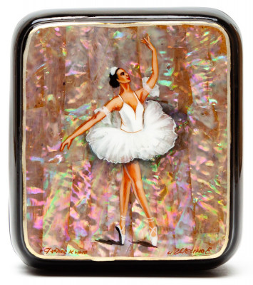 80x70 mm Marie from The Nutcracker Hand Painted Jewellery Box (by Tatiana Shkatulka Crafts)