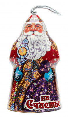 100 mm Santa Claus Ceramic Bell (by Skazka)