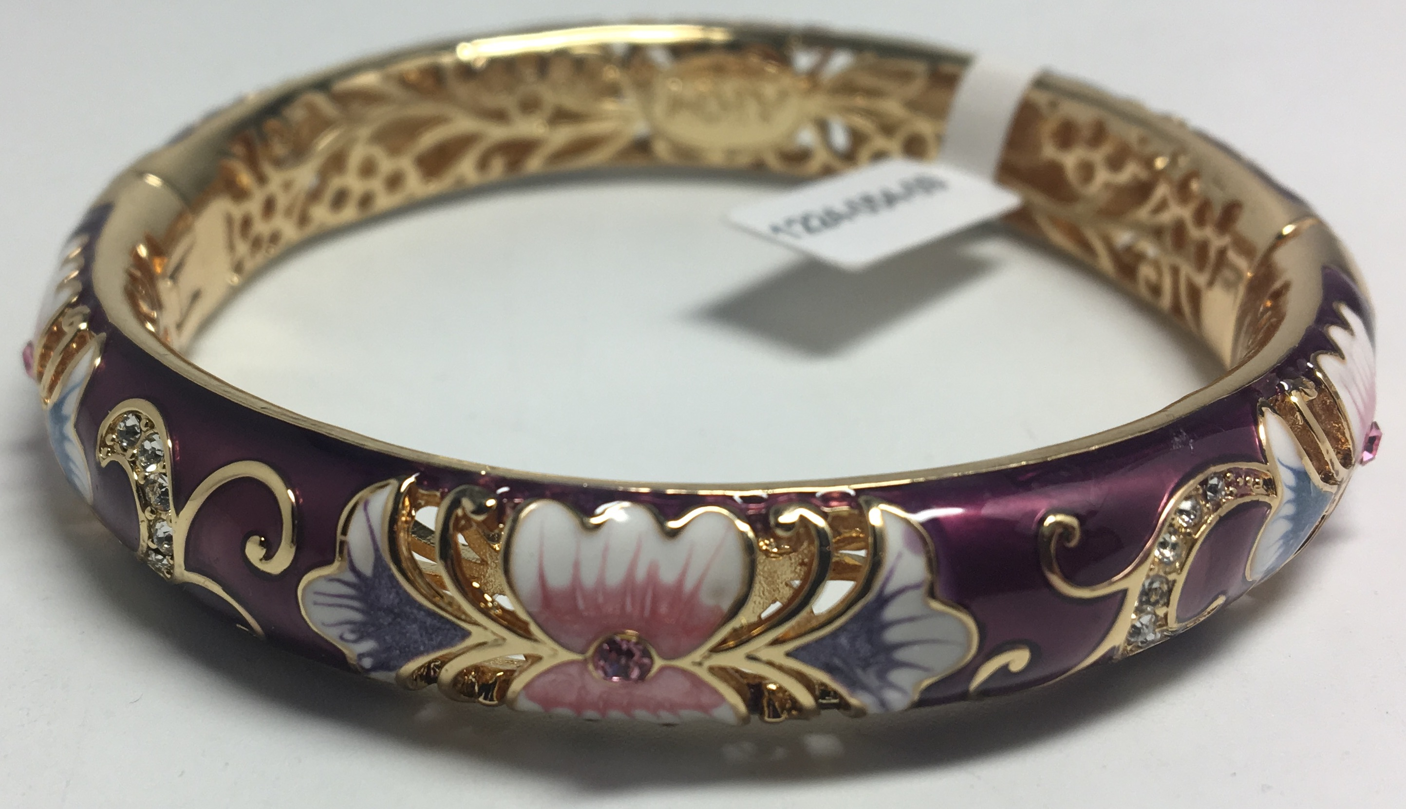 Flowers Violet Bracelet with Enamel (by AKM Gifts)