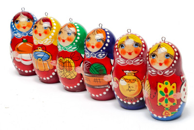 Russian Matryoshka Christmas Tree Ornaments