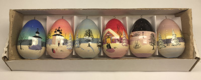 Country Landscapes on Christmas Tree Toys