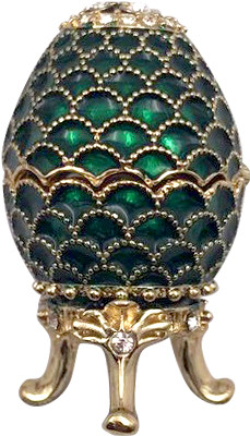 42 mm Green Pine Cone Easter Egg